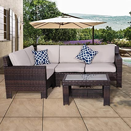 Amazon Com Diensday Patio Outdoor Furniture Sets Sofa Sectional