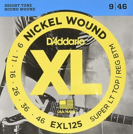Juego de cuerdas para guitarra eléctrica Daddario EXL125: Amazon ...