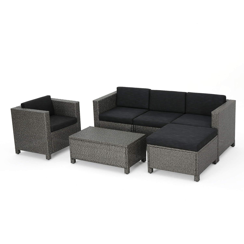 Amazoncom Gdf Studio Pueblo Outdoor Wicker L Shaped Sectional Sofa