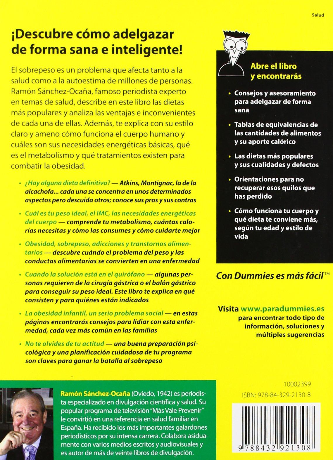 Perder peso para dummies: Amazon.es: Ramón Sánchez-Ocaña: Libros