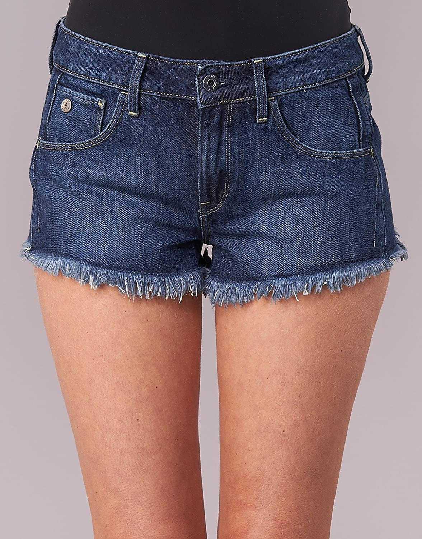 G-STAR RAW ARC Mid Waist Ripped Pantalones Cortos para Mujer