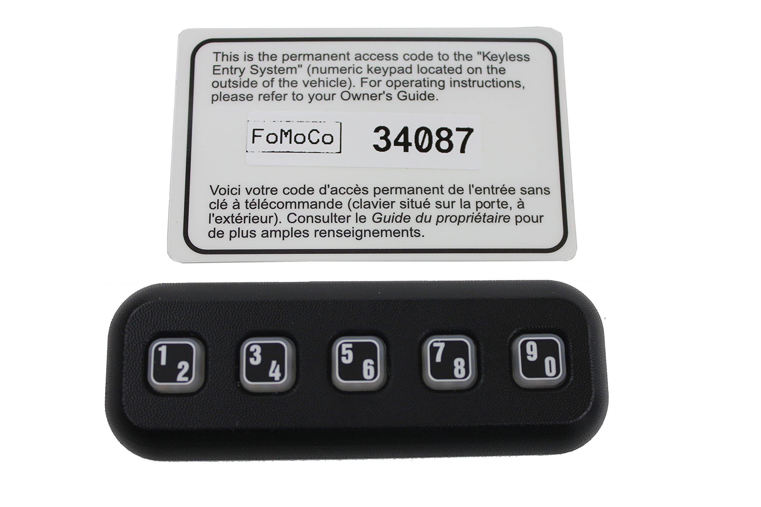 Genuine Ford 7L2Z-14A626-BA Keyless Entry Keypad by Ford