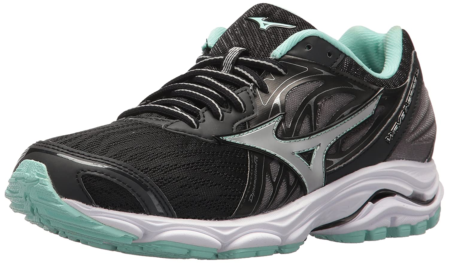 Mizuno Women's Wave Inspire 14 Running Shoe B071VC46Y6 9 B(M) US|Black/Silver
