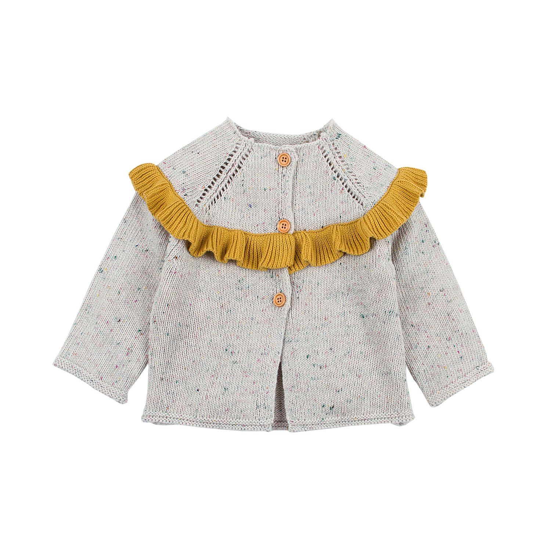 mimixiong Baby Girl Cardigan Sweater Long Sleeve Knitwear Coat