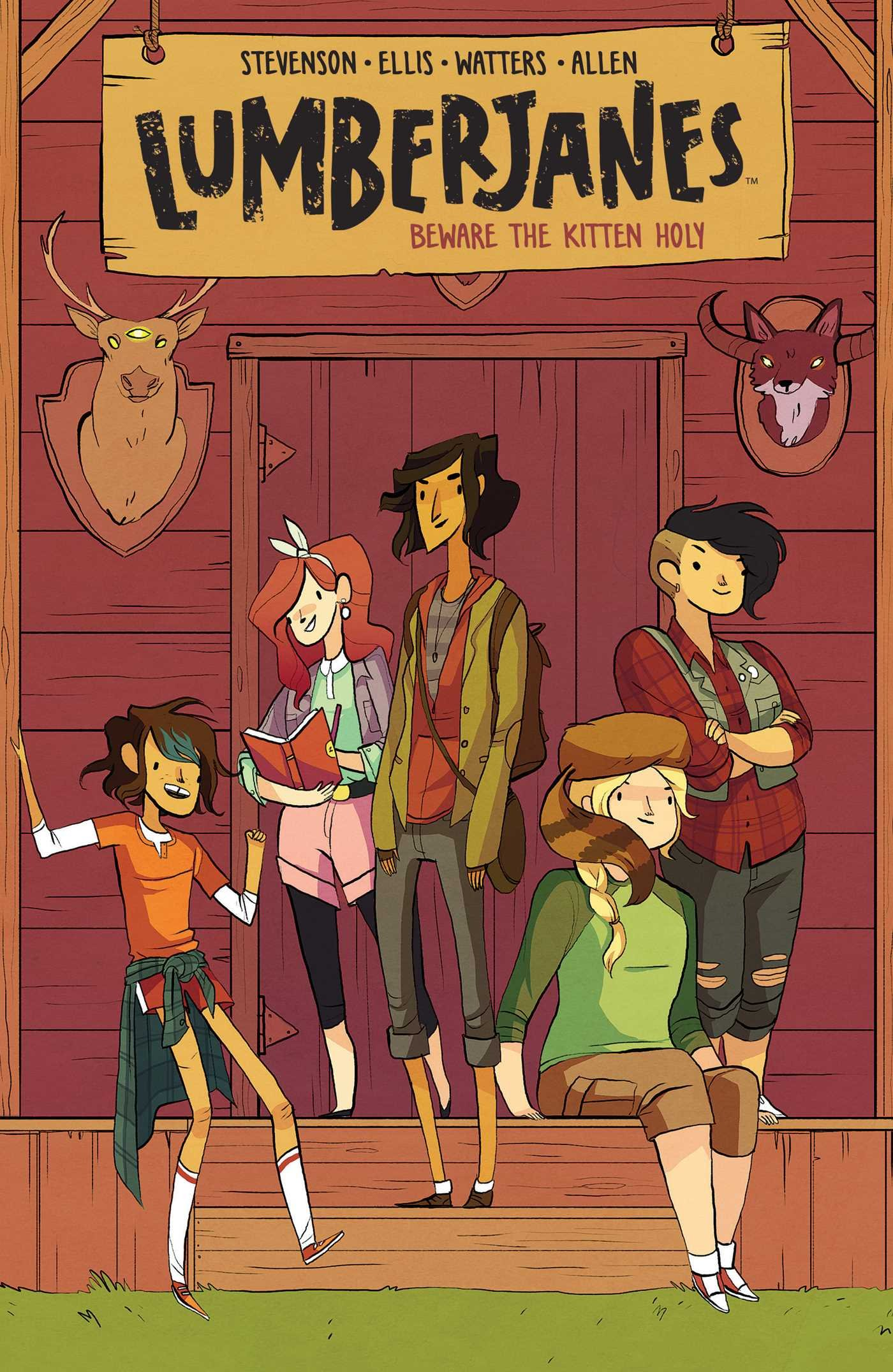 Lumberjanes Vol. 1: Beware The Kitten Holy (Volume 1): Amazon.ca:  Stevenson, Noelle, Watters, Shannon, Ellis, Grace, Allen, Brooke A: Books