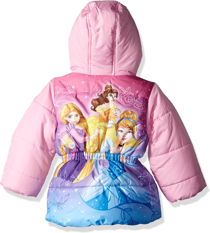 Size 6 Coat Disney Princess Girl/'s Puffer Jacket