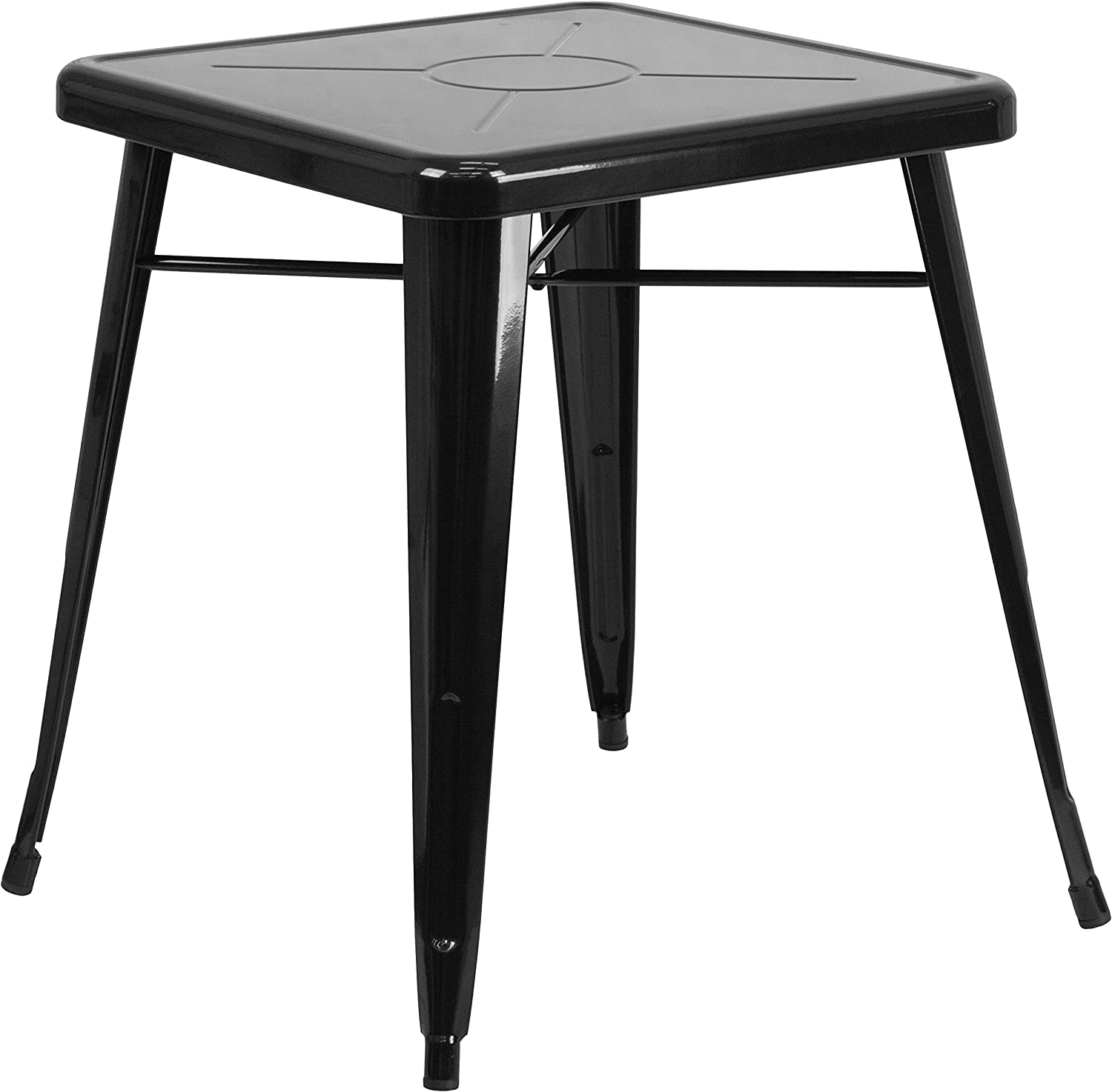 Flash Furniture 23.75 Square Black Metal Indoor-Outdoor Table