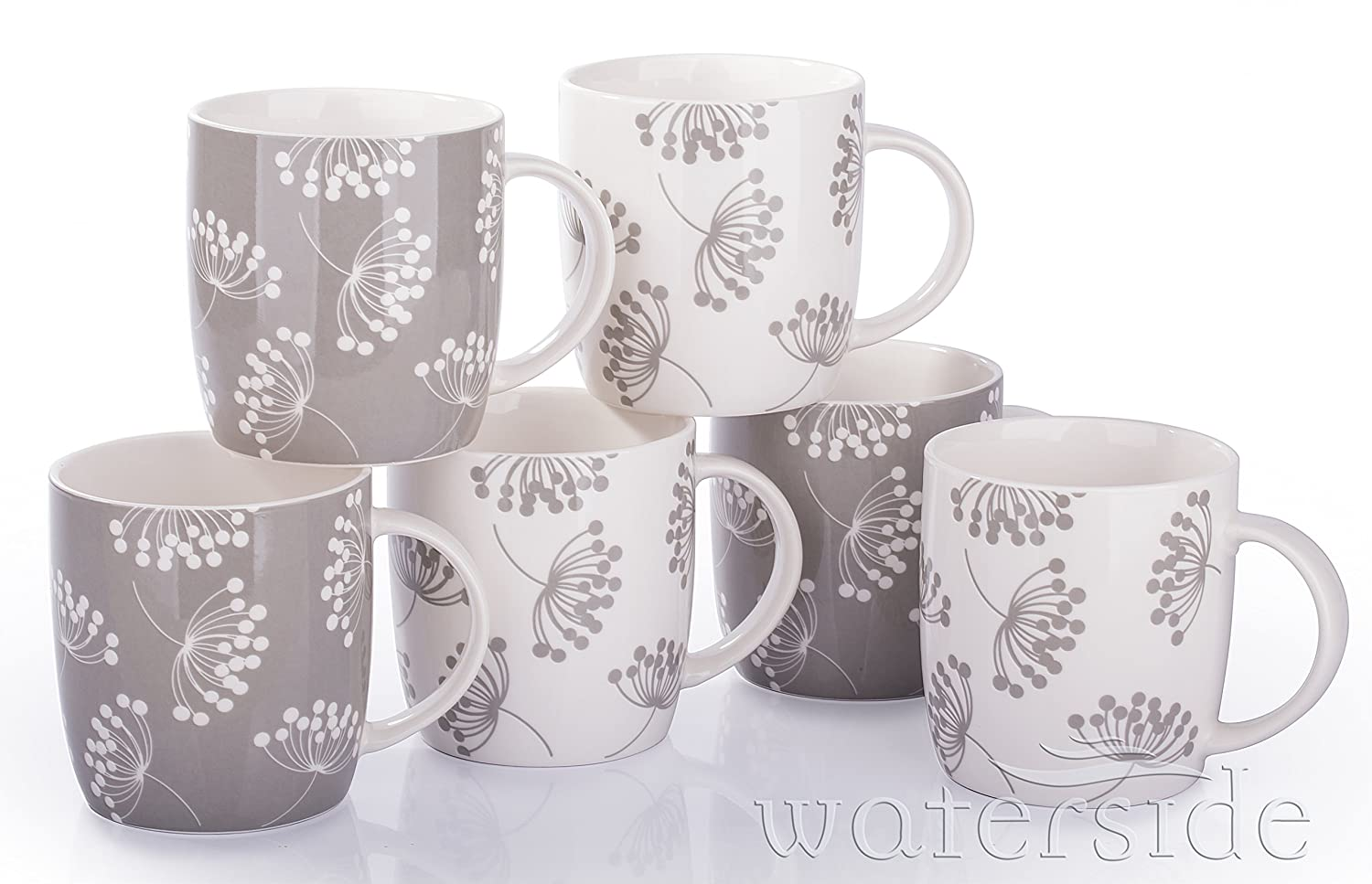 6 Piece Norland Mug Set Waterside Fine China