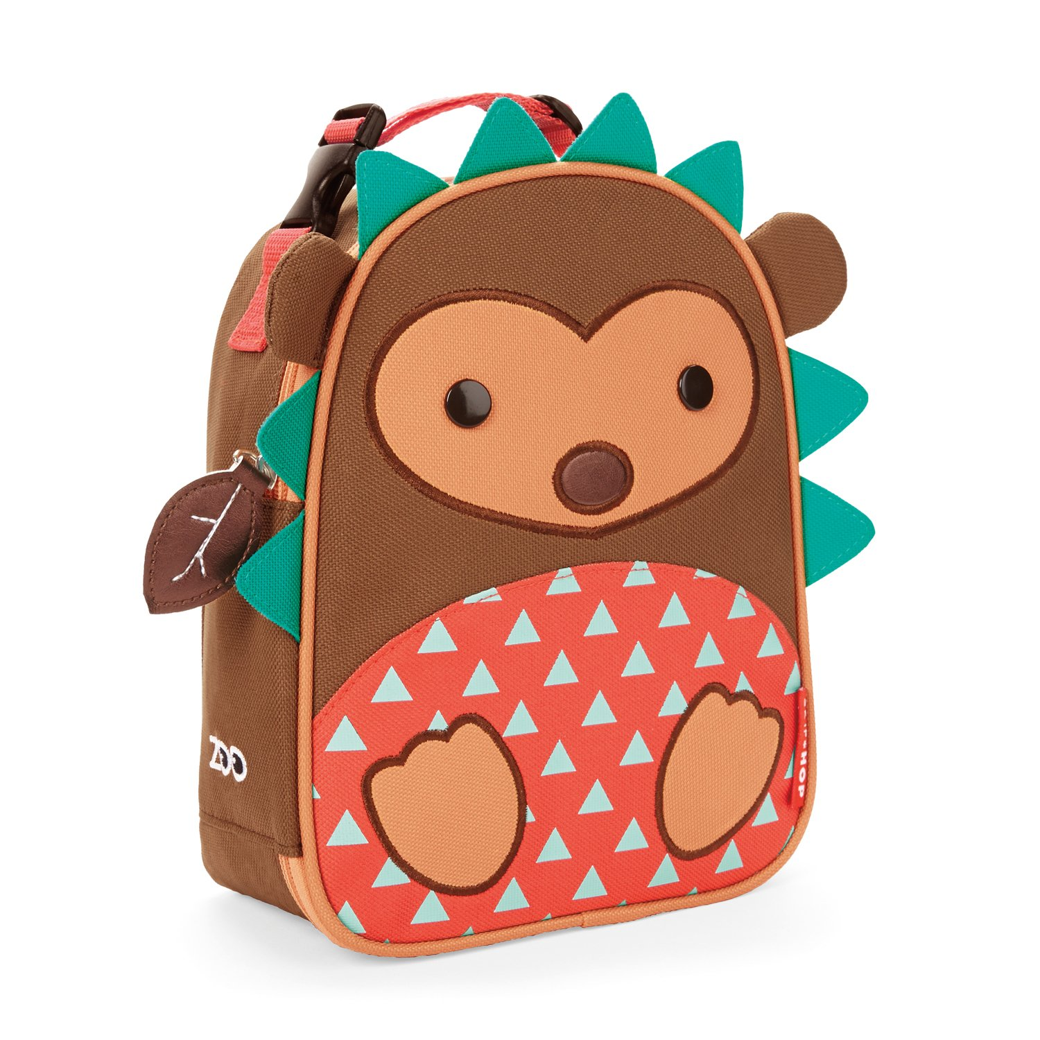 Skip Hop Baby Zoo Little Kid and Toddler Insulated and Water-Resistant Lunch Bag, Multi Hudson Hedgehog