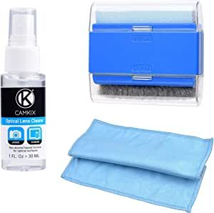 Camkix Computer & Laptop Screen Cleaning Kit - includes 1x Double-Sided Cloth, 1x Dual-Function Brush, 1x 1oz Cleaning Spray - For Smartphones, LCD Screens, Watches, Electronics and Delicate Surfaces
