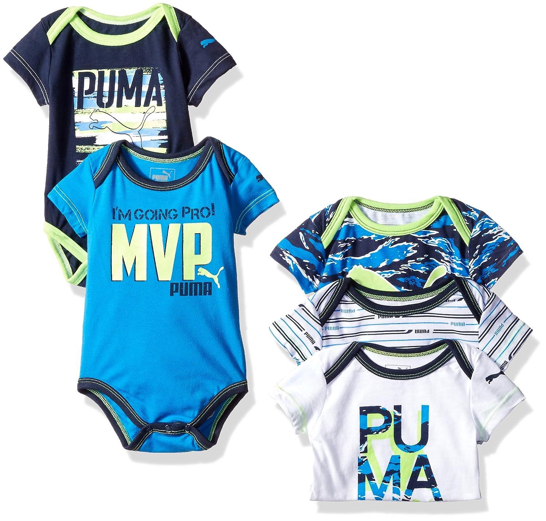 Amazon PUMA Baby Boys 5 Pack Bodysuit Clothing