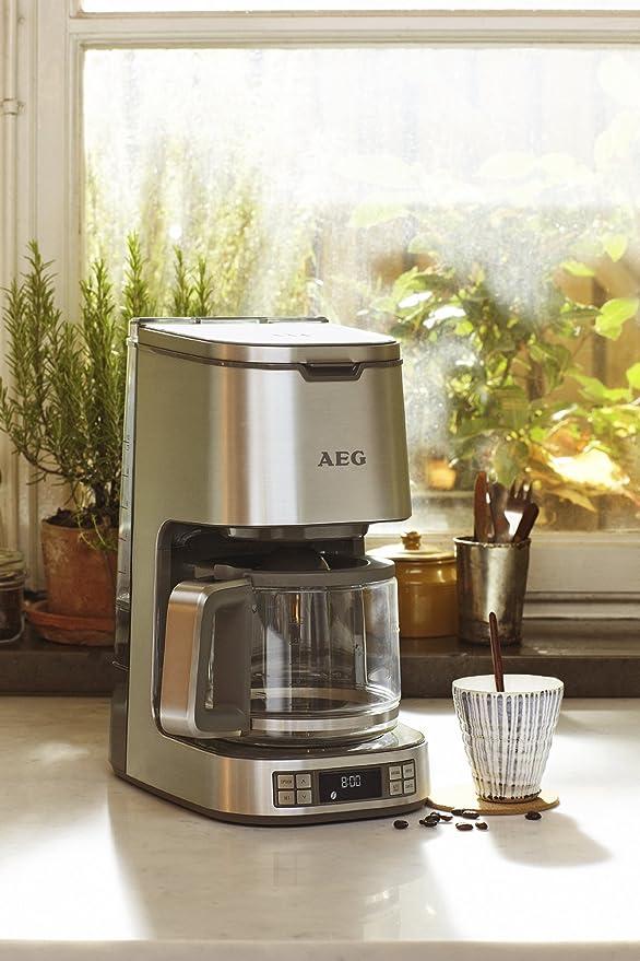 AEG KF7900 Cafetera con capacidad para 10 tazas, inicio automático 24 horas, selector de aroma: Amazon.es: Hogar