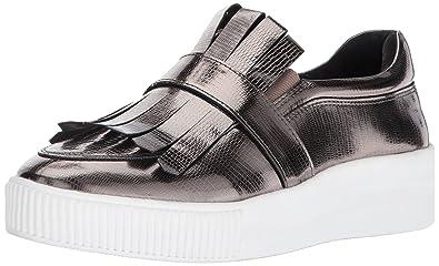 f29c027a7d0 STEVEN by Steve Madden Women's Annalee Fashion-Sneakers, Pewter, 8.5 ...