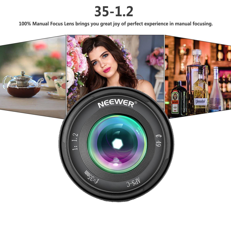 Neewer 35mm Eマウントミラーレスカメラに対応 F1.2大口径レンズ Sony