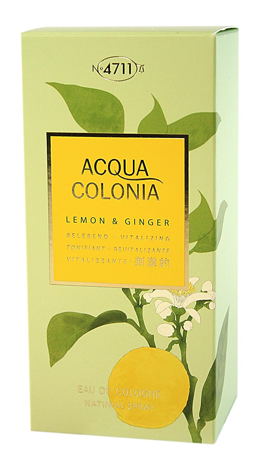 4711 Acqua Colonia Lemon & Ginger Agua de Colonia Vaporizador - 170 ml: Amazon.es: Belleza