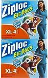 Ziploc Big Bags, XL, 4 Bags (Pack of 2)