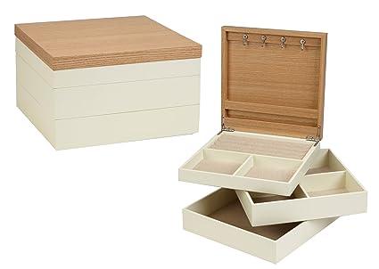 Amazoncom Seya 3 Piece Stackable Jewelry Organizer Box Classic