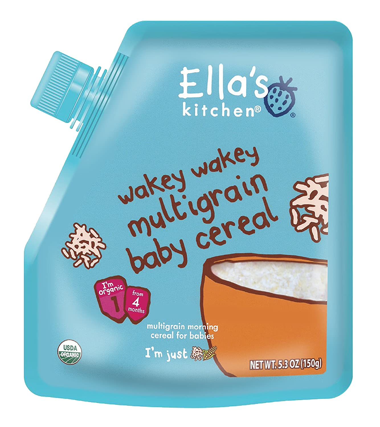Ella\'s Kitchen Organic Stage 1, Baby Cereal, 5.3 Ounce: Amazon.com ...
