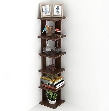 Wudville Braine Floor Standing Wall Corner Shelf/Display Rack