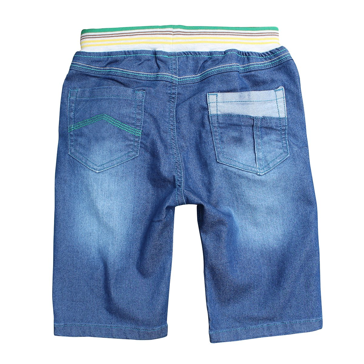 Abalaco Boys Regular Jeans Short Stretch Denim Pull-on Sport Casual Pants 5-11 Years
