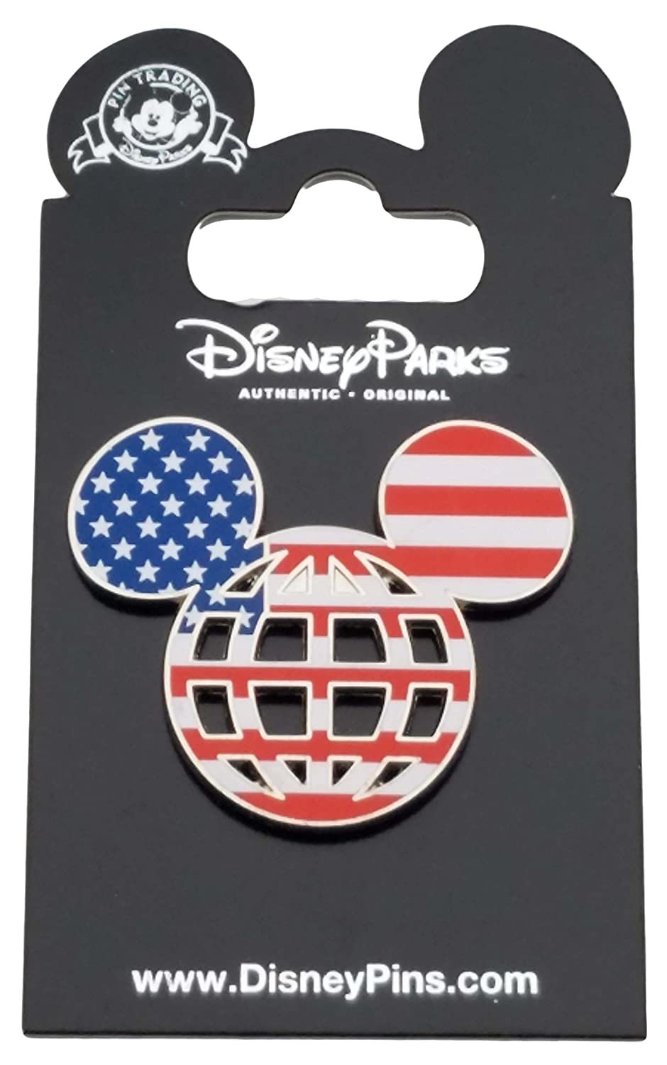 Disney Pin - American Flag Mickey Lattice Icon