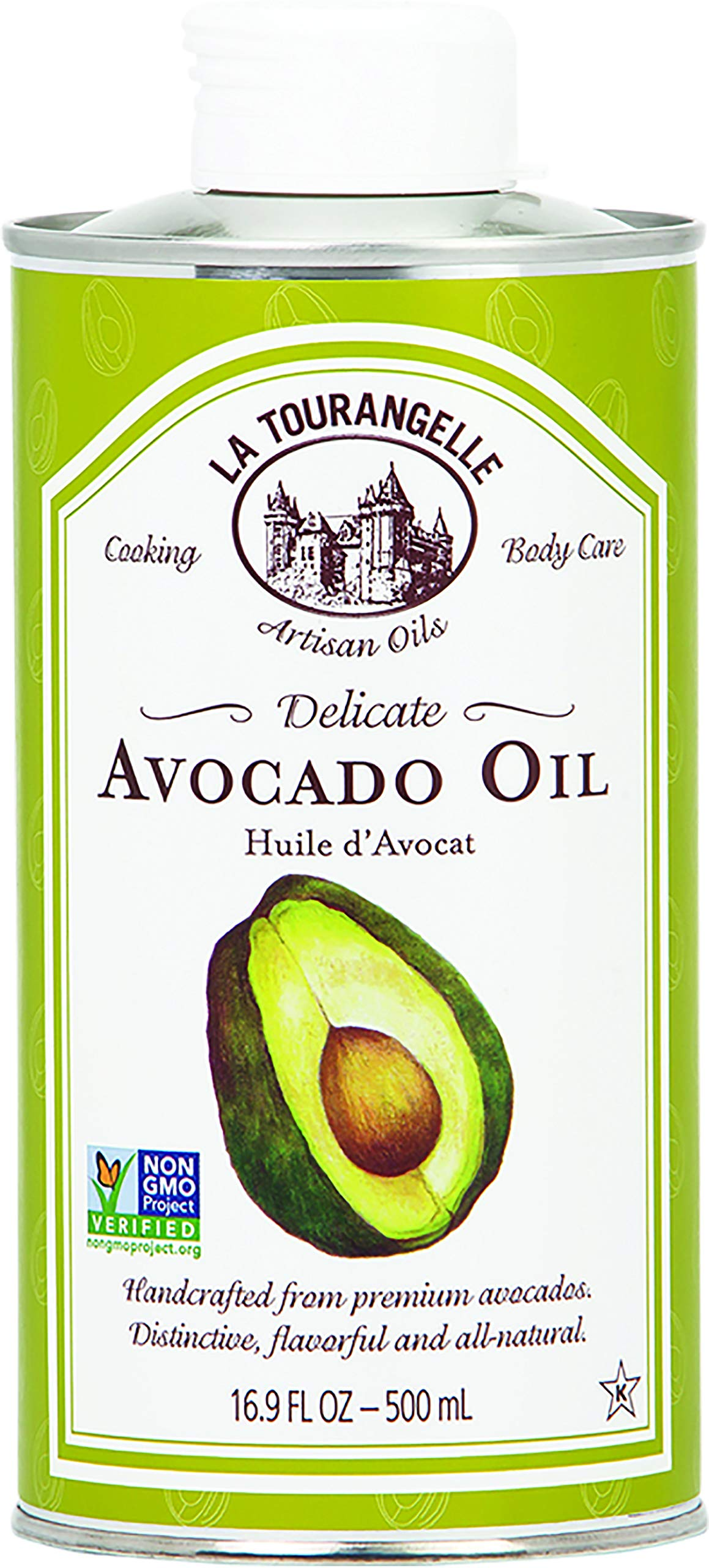 La Tourangelle Avocado Oil 16.9 Fl. Oz., All-Natural, Artisanal, Great for Salads, Fruit, Fish or Vegetables, Buttery Flavor