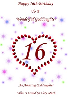 Goddaughter 16 Birthday Card
