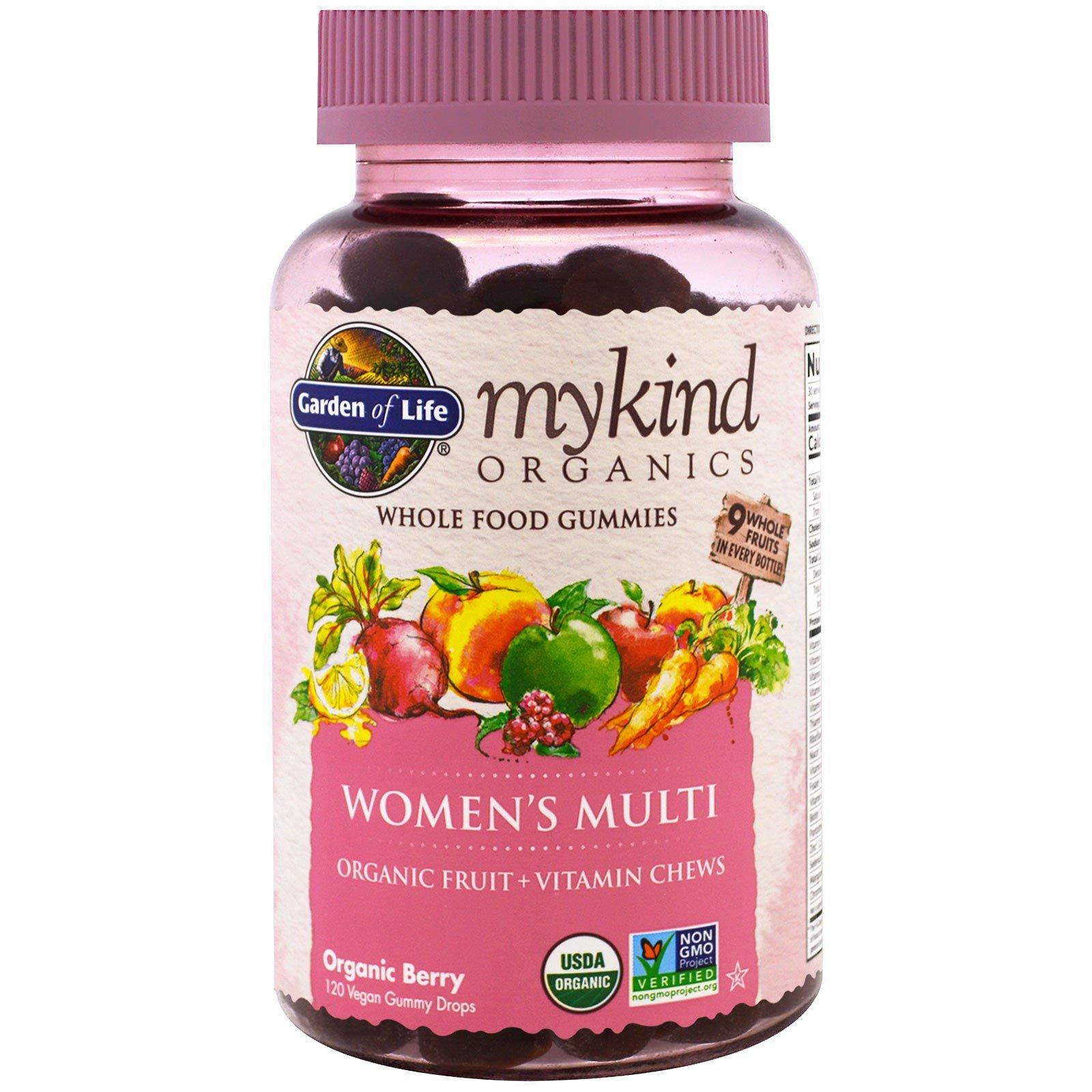 Garden of Life, Mykind Organics, Women's Multi, Organic Berry, 120 Gummy Drops