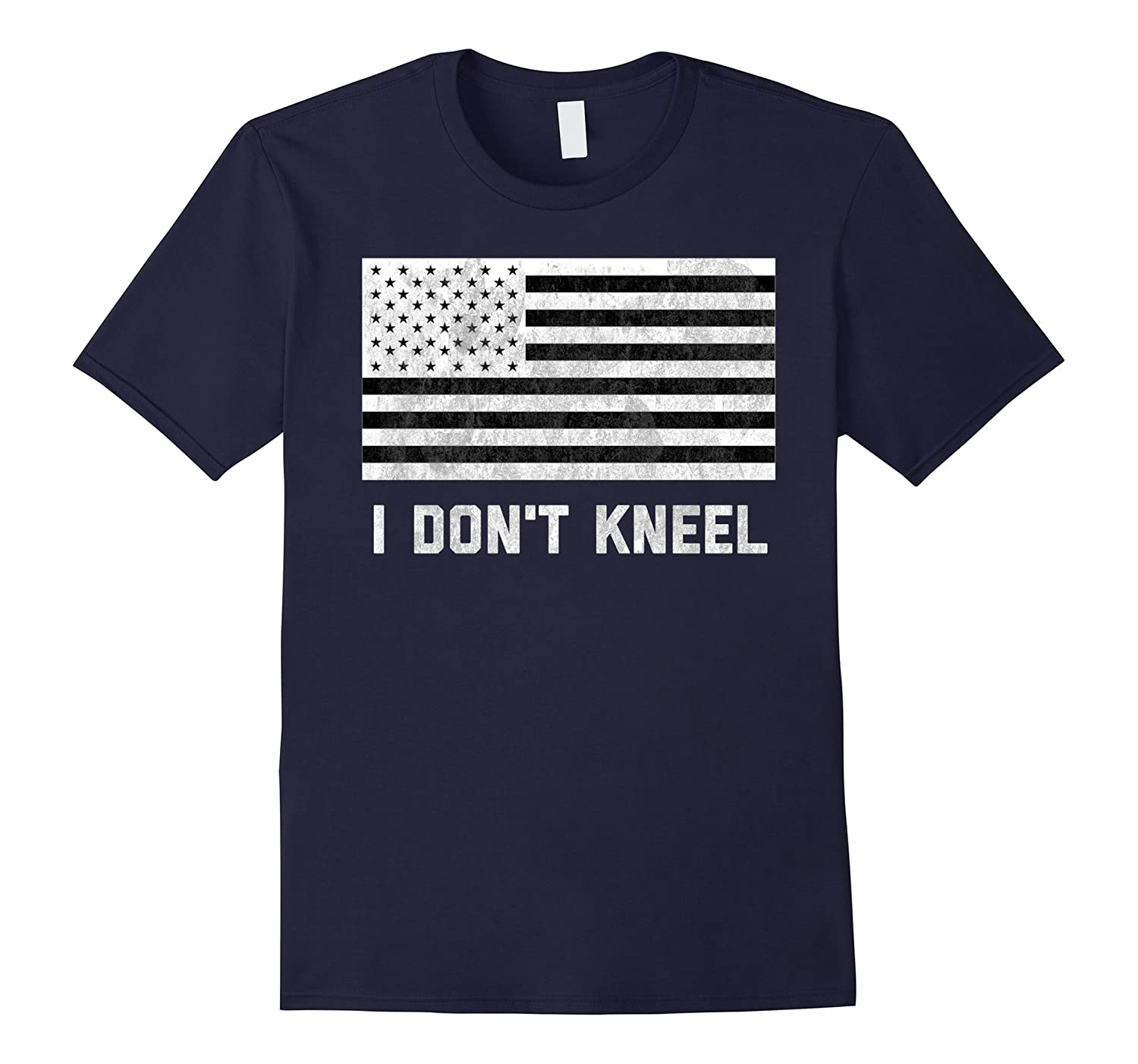 American Flag I Don't Kneel Football T-Shirt-BN