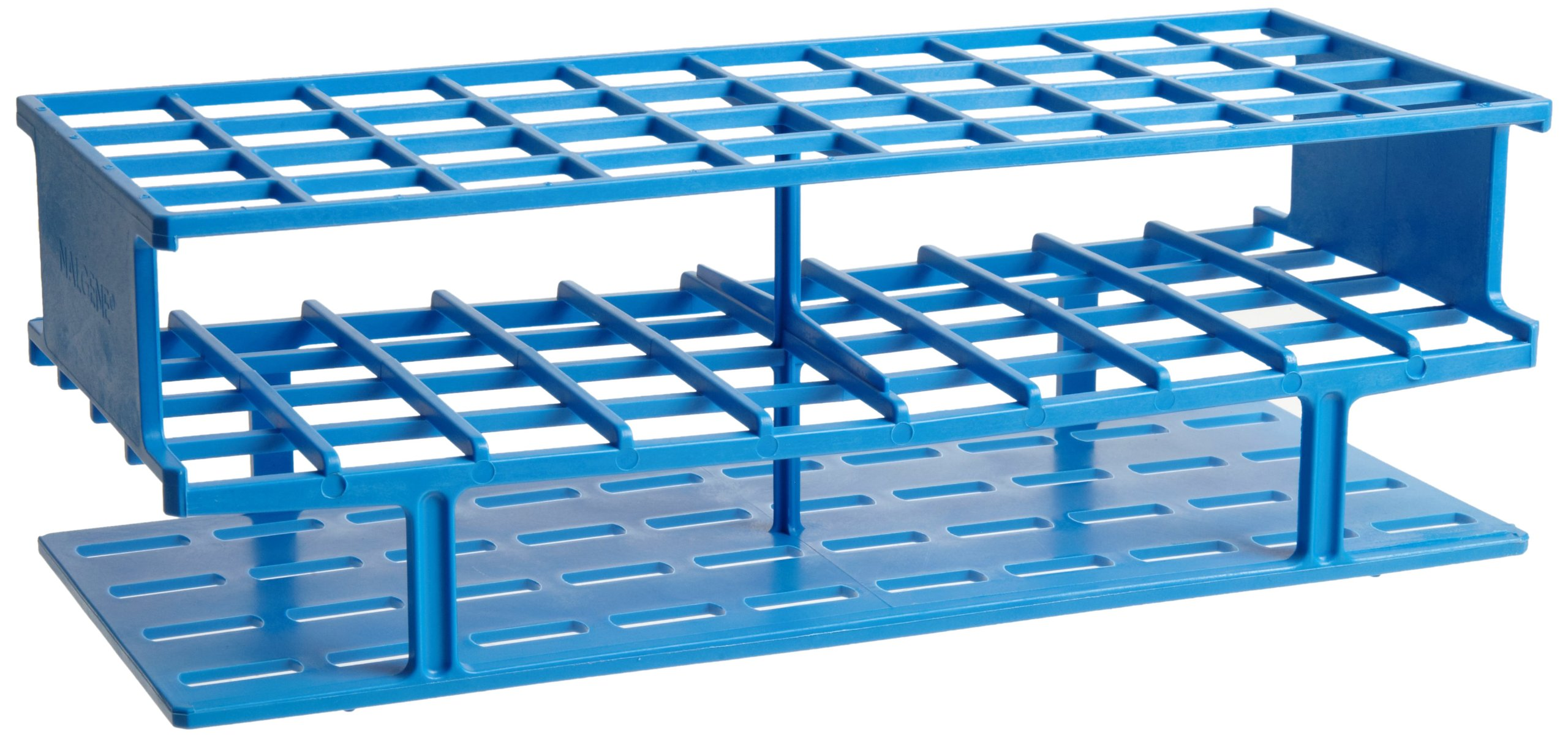 Nalgene 5970-0320 Acetal Plastic Unwire Test Tube Rack for 20mm Test Tubes, Blue by Nalgene