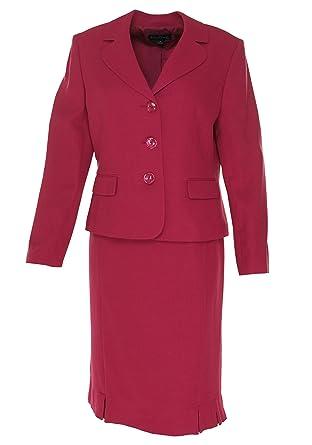 Amazon Com Evan Picone Women S St Morritz Pleated Skirt Suit 10