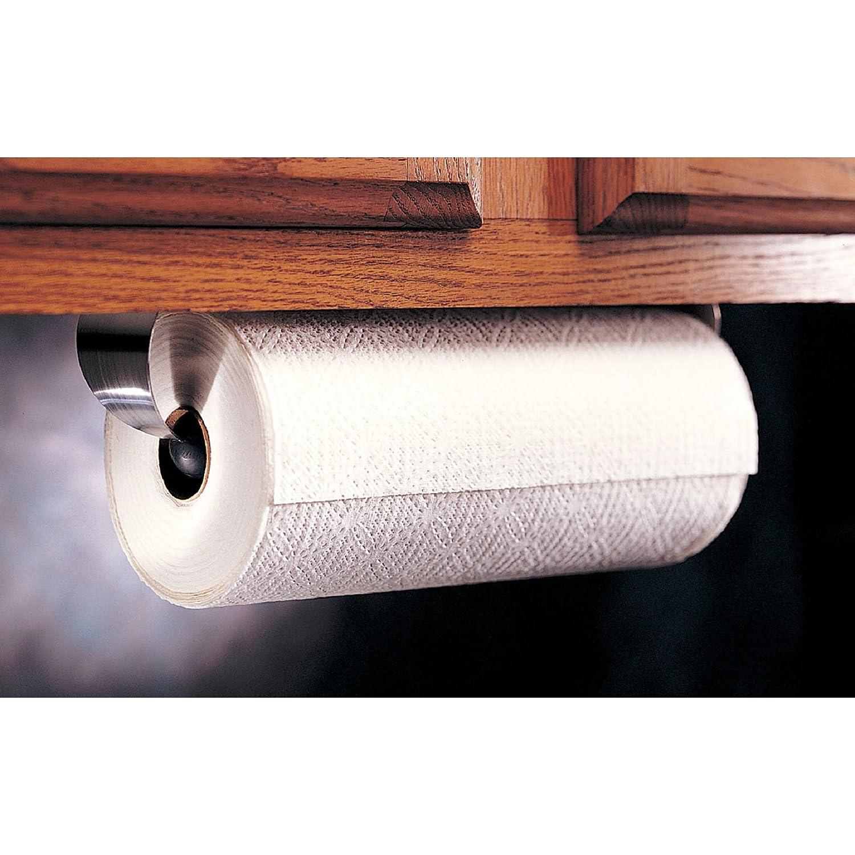 Amazon.com: Prodyne M-913 Stainless Steel Under Cabinet Paper Towel Holder:  Kitchen & Dining