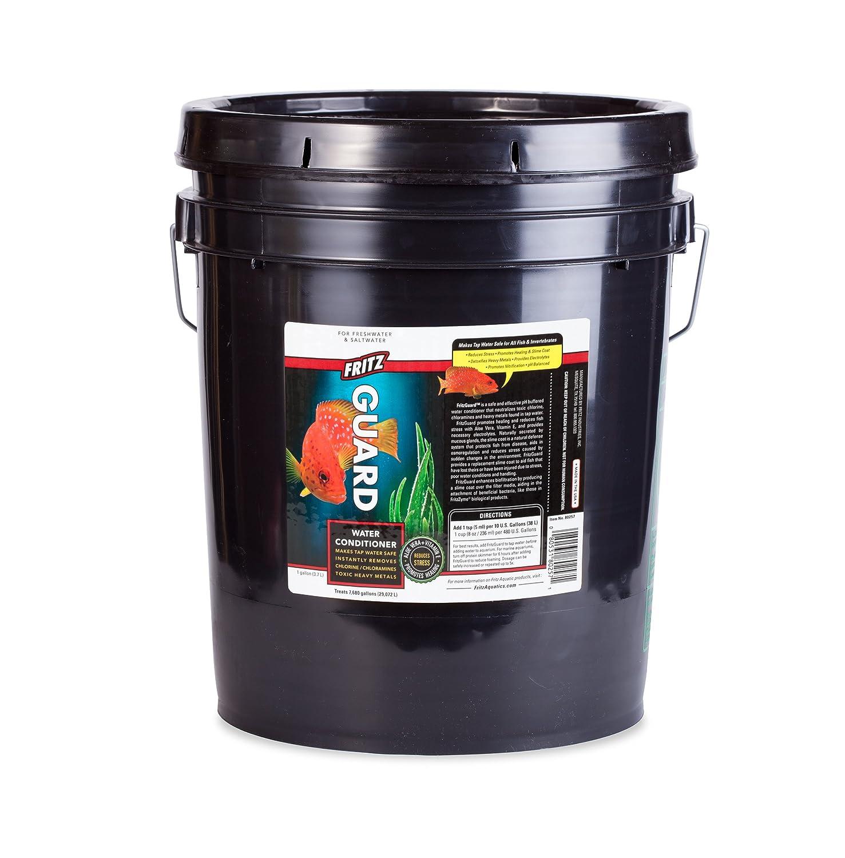 Fritz Aquatics 80231 FritzGuard Water Conditioner Dechlorinator for Fresh and Salt Water Aquariums, Bucket, 5-Gallon