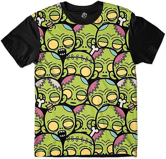 Camiseta Bsc Zombie Desenho Animado Sublimada Verde Amazon Com Br