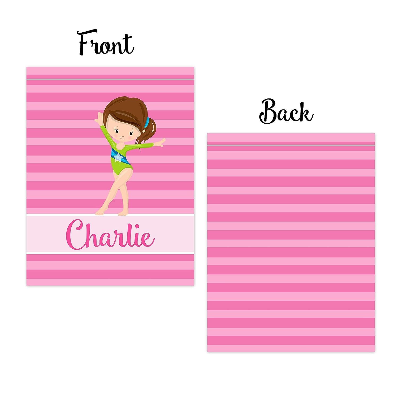 Amazon.com  Gym Drawstring Backpack - Pink Stripe Gymnastic Bag  Handmade 4127660d5162e