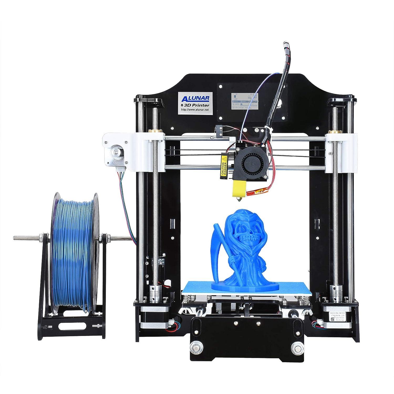 ALUNAR actualizado DIY Desktop 3D Printer RepRap Prusa i3 kit, de alta precisió n de auto-ensamblaje de la impresora tridimensional FDM, má quina de impresió n multicolor (M518) máquina de impresión multicolor (M518)