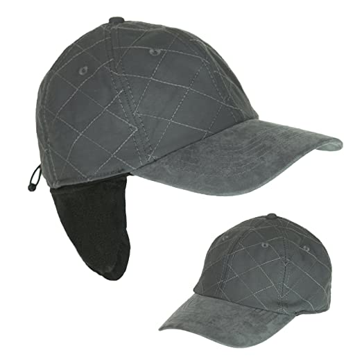e54bbdbfe Unisex Cold Weather Ball Cap with Earflap, 50 UPF-UV Sun Protection,  Waterproof