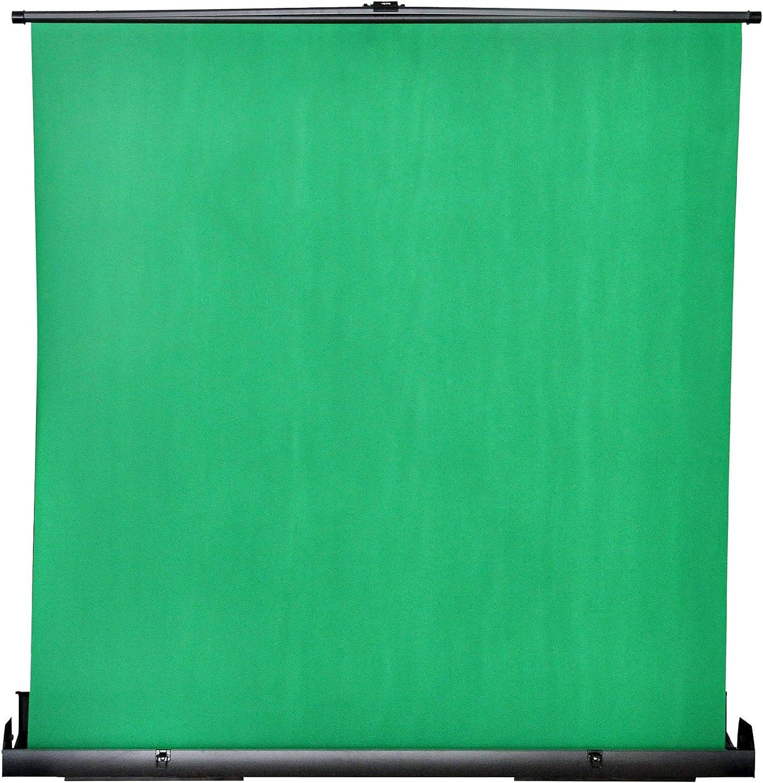 MAXTEX pantalla verde, panel plegable de cromo para fondo de fotografía, estudio de vídeo, portátil de tirar, resistente a las arrugas, fondo de pantalla verde, marco de cojín de aire con bloqueo