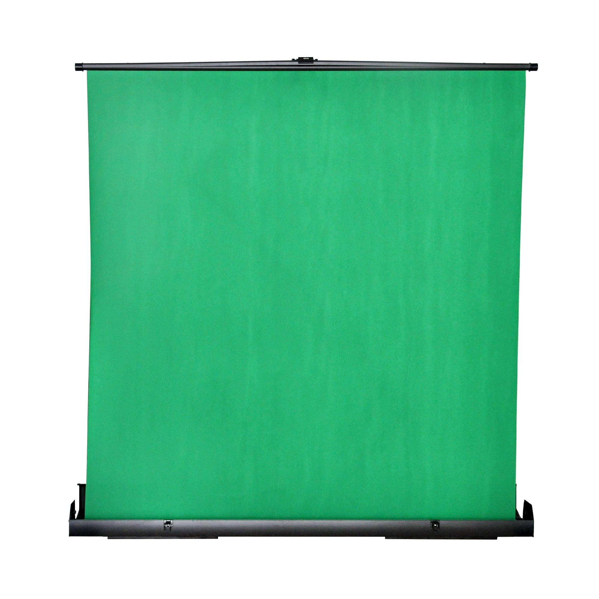 MAXTEX Green Screen, Portable Pull Up Wrinkle-Resistant Greenscreen Background Pull Up Backdrops Green Screen Backdrop Setup Auto-Locking Frame, Solid Safety Aluminium Base by MAXTEX (Image #1)