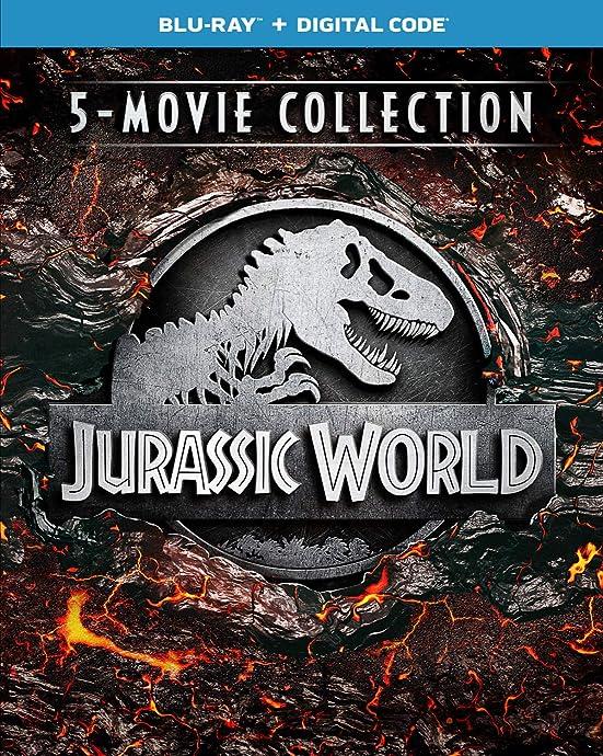 金盒特价 Jurassic World 5-Movie Collection 侏罗纪公园五部曲 蓝光碟 2.6折$22.99 海淘转运到手约¥190