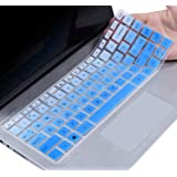 """CaseBuy HP Pavilion x360 14 inch Keyboard Cover Compatible 2019 2018 HP Pavilion 14"""" Laptop/HP Pavilion x360 14M-BA 14M-CD 14-BF 14-BW 14-cm 14-CF Series 14 Inch HP Laptop Skin, Ombre Blue"""