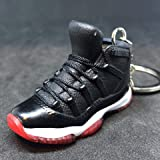 new style eea30 3ee5f Air Jordan XI 11 Retro Bred Black Red OG Sneakers Shoes 3D Keychain 1 6