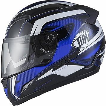 THH TS-80#6 - Casco cerrado integral para motocicleta, XL, color
