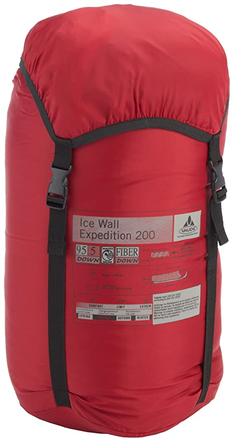 VAUDE Saco de dormir Ice Wall Expedition 200 d rojo/naranja: Amazon.es: Deportes y aire libre