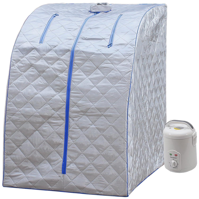Durherm Portable Personal Folding Home Steam Sauna (Blue Outline) SS03