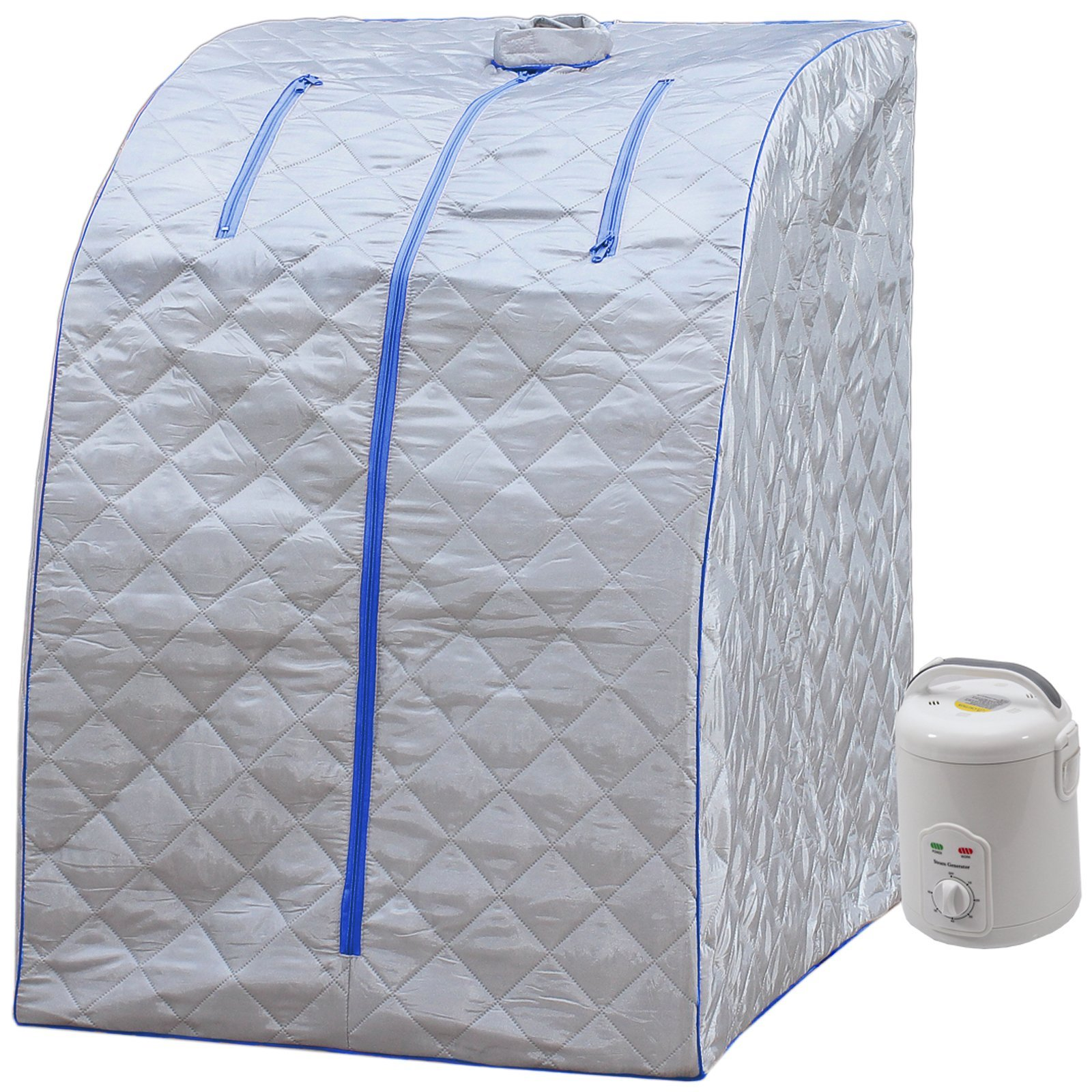 Durherm Portable Personal Folding Home Steam Sauna (Blue Outline)