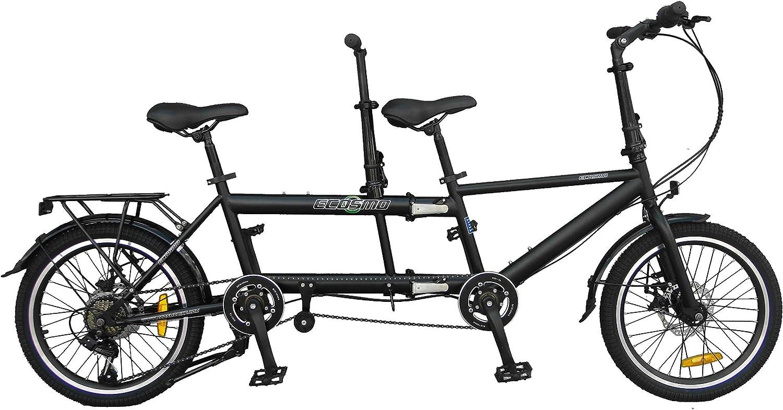 Ecosmo 20TF01BL Bicicleta tándem plegable de 20