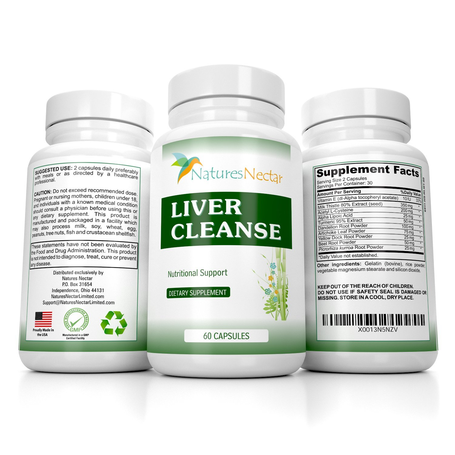 Liver Cleanse & Liver Detox Support Supplement - This Liver Detoxifier & Regenerator Formula Can Help Repair an Active Liver Plus Aid in the Rescue of a Fatty Liver-Liver Support Supplements Grass Fed by Natures Nectar