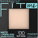 Maybelline New York Matte + Poreless Pressed Face Powder Makeup, Buff Beige, 8.5 Grams