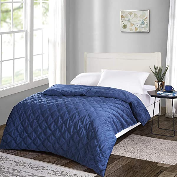"""60/""""*80/"""" 60*80 Duvet Cover for Weighted Blankets Navy Blue Soft Minky Dot"""